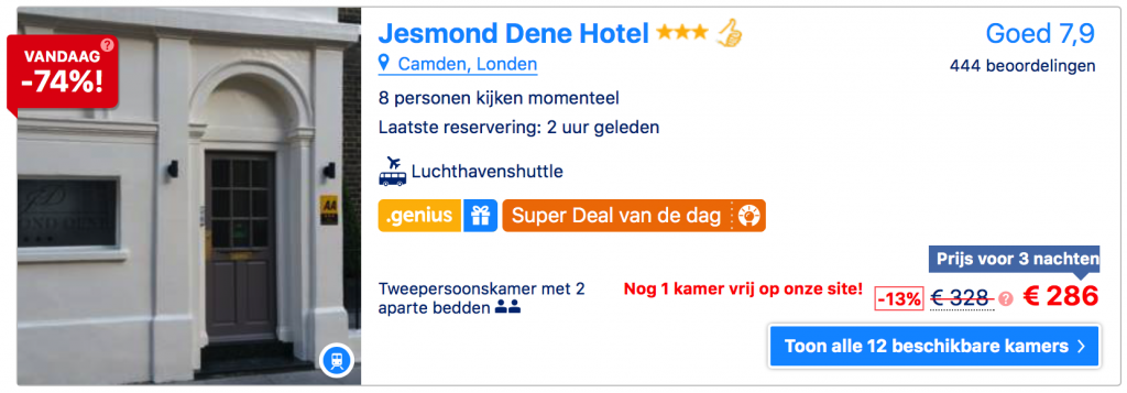 Booking schaarste psychologie